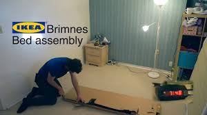 ikea brimnes bed frame assembly time lapse youtube