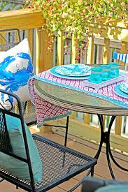 Coastal Decor Patio Set In Floating Deck