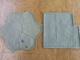 Gorgeous DIY Stamped Concrete tile Driveway for Less $