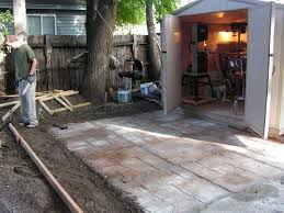 How To Make A Nice Cement Patio: 4 Steps (with Pictures) Interesting Ideas Cement Patio Astonishing How To Install A Diy Spice Up Your Worn Concrete With Flo Coat Resurface By Sakrete Build In 8 Easy Steps Amazoncom Wovte Walk Maker Stepping Stone Mold Removing Stain In Stained All Home Design Simple Diy Backyard Waterfall Decor With Grave And Midcentury Epansive Amys Office Step Guide For Building A Property Is No Longer On Pouring Interior