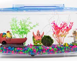 Spongebob Aquarium Decorating Kit by Spongebob Gift Ideas Etsy