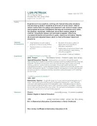 Resume Example For Teacher Middle School Examples Early Childhood Fancy