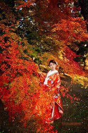 Kimono in Red Leaves