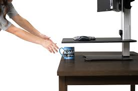 Dual Monitor Standing Desk Attachment by Victor Dc450 High Rise Electric Dual Monitor Height Adjustable
