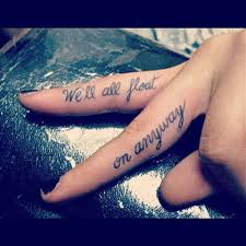 Quote On Girly Fingers Tattoo