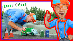 Learn Colors For Toddlers With Blippi Toys | Garbage Truck Toy - YouTube