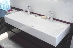 Trough Sink With Two Faucets by Single Basin Double Faucet Bathroom Sink Elegant Double Faucet