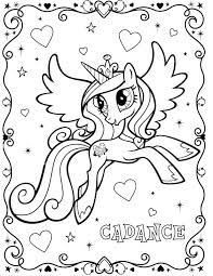 Pony Coloring Games Online Book Page Printable Pages Little