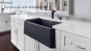 Blanco Silgranit Sinks Colors by Revolutionary New Apron Front Kitchen Sink Blanco Ikon Youtube