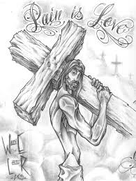 Go Back Gallery For Jesus Tattoo Sketch