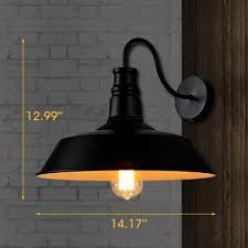 14 wide single light lighting gooseneck barn wall throughout