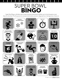 Printable Super Bowl Bingo Cards Keep Everyone Interested Even Sports Haters