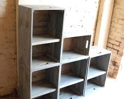 Crate Storage Wooden Crates Modern Book Shelf Wall Unit Bookcase Classic Gray Shelving Room Essentials Milk