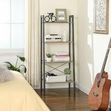 möbel leiterregal mit 4 ebenen metall für wohnzimmer lls44mg