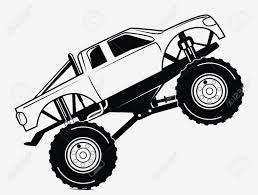 Monster Truck Drawing - Digger Coloring Pages Monster Jam Coloring ...