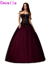 online get cheap princess prom dresses ball gown black aliexpress