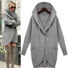 2017 New Autumn High Fashion Trend Street Womens Wool Blend Trench Coat Casual Long Outerwear Loose