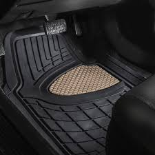 BESTFH: Car Floor Mats Dash Mat Combo For Auto Car Heavy Duty Beige ... Universal Fit 3piece Full Set Ridged Heavy Duty Rubber Floor Mat Armor All Black 19 In X 29 Car 4piece John Deere Vinyl 31 18 Mat0326r01 Bestfh Truck Tan Seat Covers With Combo Alterations Mats Red Metallic Design On Vehicle Beautiful For Weather Toughpro Infiniti G37 Whosale Custom For Subaru Forester Legacy 19752005 Bmw 3series Husky Liners Heavyduty