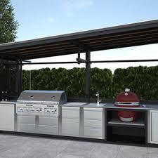75 outdoor mit outdoor küche und natursteinplatten ideen