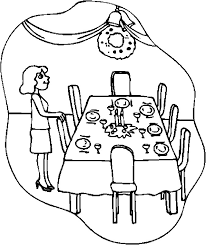 Dining Room Clipart Black And White ClipartXtras