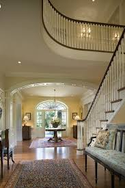 Entry Foyer Ideas Traditional With Table Lamp Round