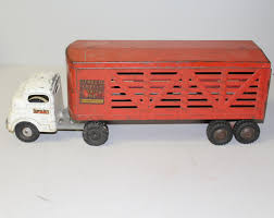 Bargain John's Antiques | Structo Cattle Farms Inc. Metal Truck ... 1950s Structo Hydraulic Toy Dump Truck Vintage Light 992 Lot 569 Toys No7 City Of Toyland Pressed Steel Utility Farm White Colored Hard Plastic Lamb Accessory Corvantics Corvair95 Vintage Structo Toys Pressed Steel Truck And Trailer Model Antique Toy Livestock Vintage Metal Toy Wrecker Truck Oilgas Red Good Hilift High Lift Lever Action Blue And Yellow 1967 Turbine 331 Auto Transporter Wcars Ramp Colctibles Signs Gas Oil Soda