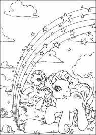 Rainbow In Ponyland Coloring Page