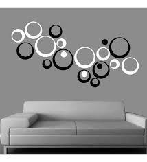 Creative Width Polka Acrylic Black White 3D Wall Art Sticker Small