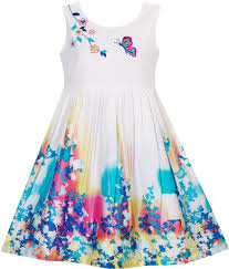 girls dress butterfly seeking flower embroidery chinese style