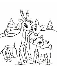 Rudolphs Family Coloring Page Color Online Print
