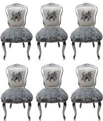 pompöös by casa padrino luxus barock esszimmerstühle krone weiß grau silber pompööse barock stühle designed by harald glööckler 6