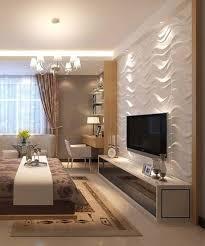 weiße 3d wandpaneele mit einem wellenabdruck wohnen