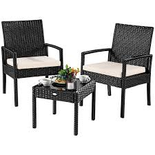 Shop Costway 3 PS Outdoor Rattan Patio Furniture Set Backyard Garden ... Shop Aleko Wicker Patio Rattan Outdoor Garden Fniture Set Of 3 Pcs 4pc Sofa Conservatory Sunnydaze Tramore 4piece Gray Best Rattan Garden Fniture And Where To Buy It The Telegraph Akando Outdoor Table Chair Hog Giantex Chat Seat Loveseat Table Chairs Costway 4 Pc Lawn Weston Modern Beige Upholstered Grey Lounge Chair Riverdale 2 Bistro With High Webetop Setoutdoor Milano 4pc Setting Coffee