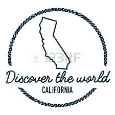 Map Outline Vintage Discover The World Rubber Stamp With Hipster Style California State Template