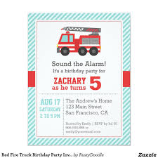 Red Fire Truck Birthday Party Invitation | Fire Trucks, Party ... Fire Truck Firefighter Birthday Party Invitation Cards Invitations Firetruck Themed With Free Printables How To Nest Book Theme Birthday Invitation Printable Party Invite Truck And Dalataian 25 Incredible Pattern In Excess Of Free Printable Image Collections 48ct Flaming Diecut Foldover By Creative Nico Lala