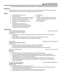 Sample Massage Therapist Resume Therapy Examples Beauty And Spa Resumes With Regard To For