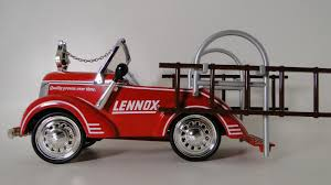 100 Antique Fire Truck Pedal Car 1930s Ford Engine Rare Vintage Classic