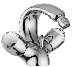 casa padrino luxus jugendstil wasserhahn mit swarovski kristallglas silber h 15 5 cm retro waschtisch armatur einlochbatterie erstklassische