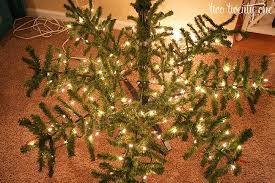 7ft Artificial Christmas Tree With Lights by How To Put Lights On A Christmas Tree Two Twenty One