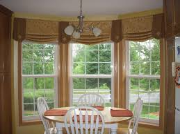 Graceful Bay Window Dining Room Or Unique Curtain Valance Ideas Living