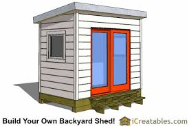 6x8 modern shed plans by icreatables
