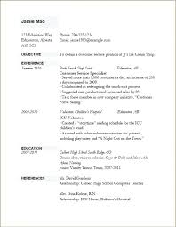 Simple Resume Sample For Job It Example Application