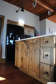 Log Cabin Kitchen Cabinet Ideas by Log Cabin Kitchen Remodel Installed Woodland Cabinetry Rustic