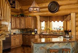 Beautiful Valance Curtains In Kitchen Rustic With Stained Concrete Countertops Next To Stone Bar Alongside Rough