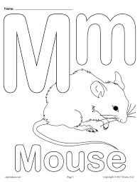 Uppercase And Lowercase Letter Mm Coloring Page