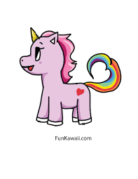 Kawaii Cute Unicorn To Draw