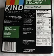 Dark Chocolate Chili Almond Kind Nuts Spices Bar