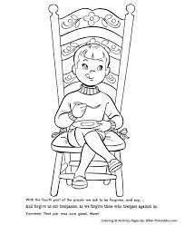 The Lords Prayer Coloring Page 17