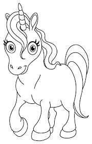 Cartoon Cat Coloring Pages Printable Cute Pictures Unicorn Sheets Free Animals With Big Eyes