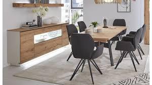 interliving wohnzimmer serie 2103 sideboard 560811 mit beleuchtung mattweißer lack asteiche zwei türen zwei schublad